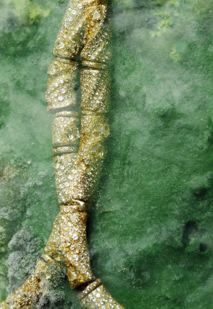 Alta gioielleria Made in Italy - collier - oro giallo - diamanti - pietre preziose