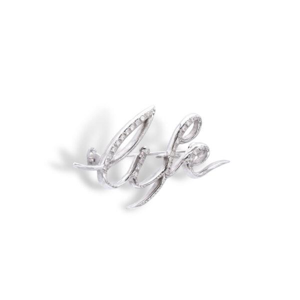 d'Avossa Brooch in 18kt White Gold and White Diamonds
