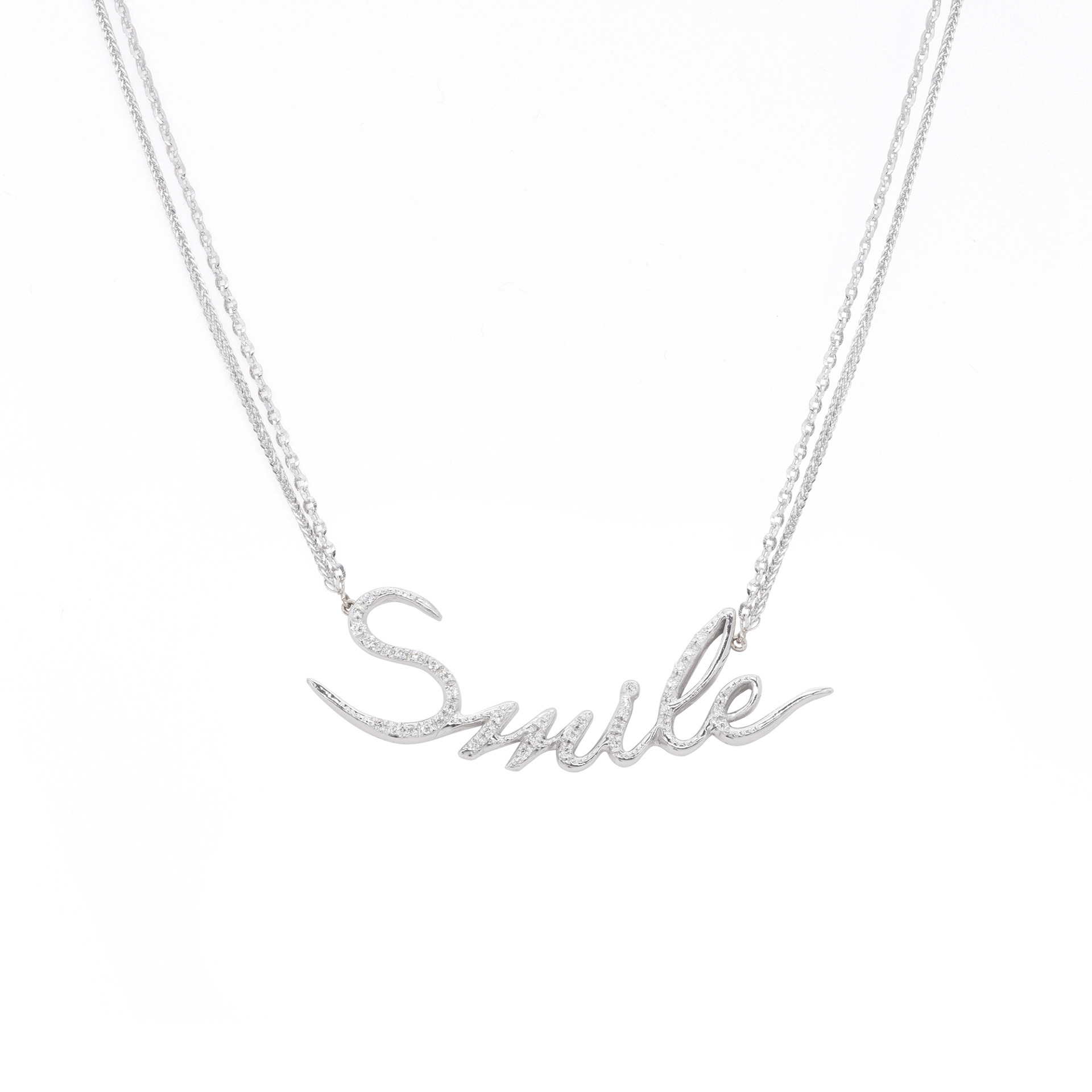 d'Avossa Necklace in 18kt White Gold and White Diamonds