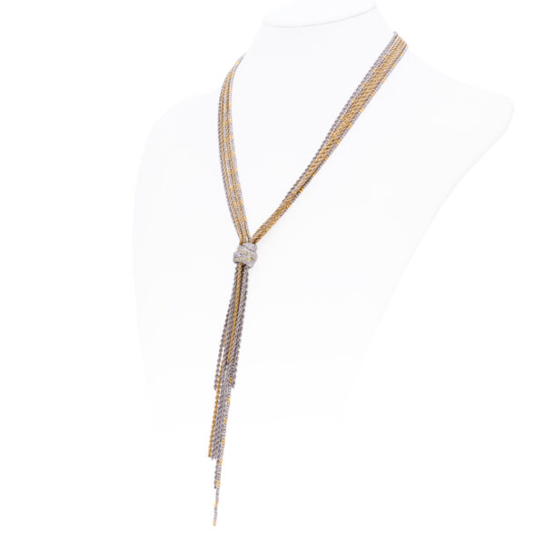 d'Avossa Necklace in 18 kt white and yellow gold with white Diamonds (4)