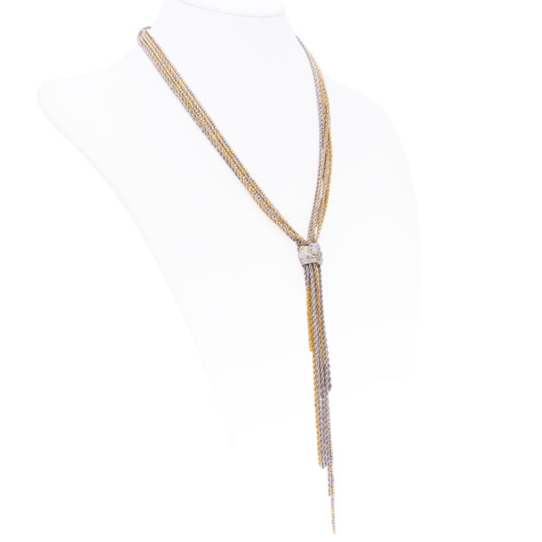 d'Avossa Necklace in 18 kt white and yellow gold with white Diamonds (3)