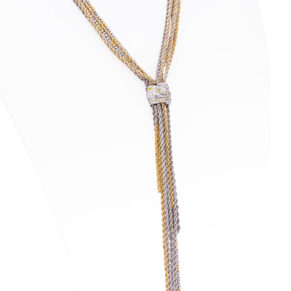 d'Avossa Necklace in 18 kt white and yellow gold with white Diamonds (2)