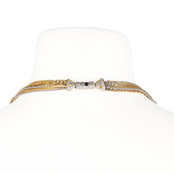 d'Avossa Necklace in 18 kt white and yellow gold with white Diamonds (6)