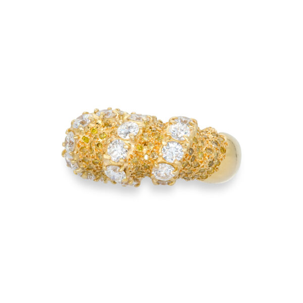 d'Avossa Ring in 18kt yellow gold with White and Yellow Diamonds