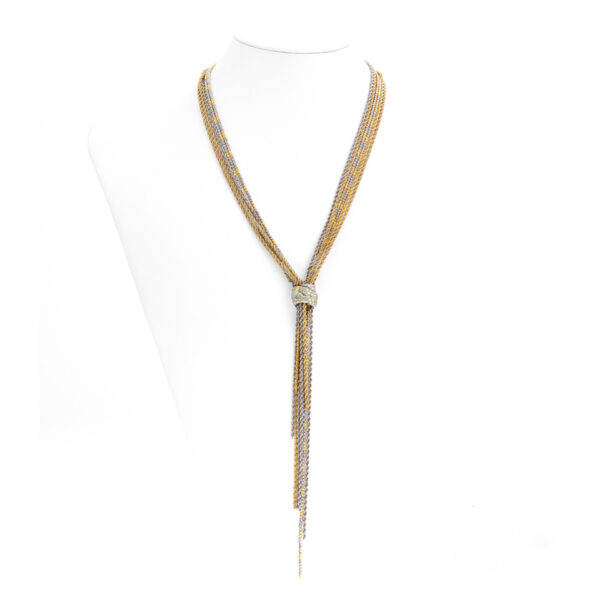 d'Avossa Necklace in 18 kt white and yellow gold with white Diamonds (5)