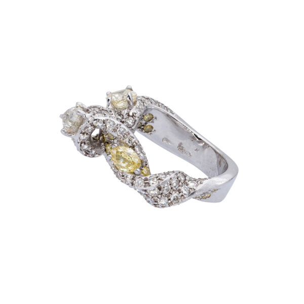 d'Avossa Ring with White and Fancy Natural Diamonds (10)