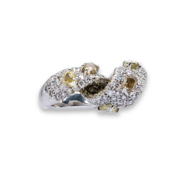 d'Avossa Ring with White and Fancy Natural Diamonds (8)