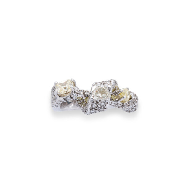 d'Avossa Ring with White and Fancy Natural Diamonds (9)