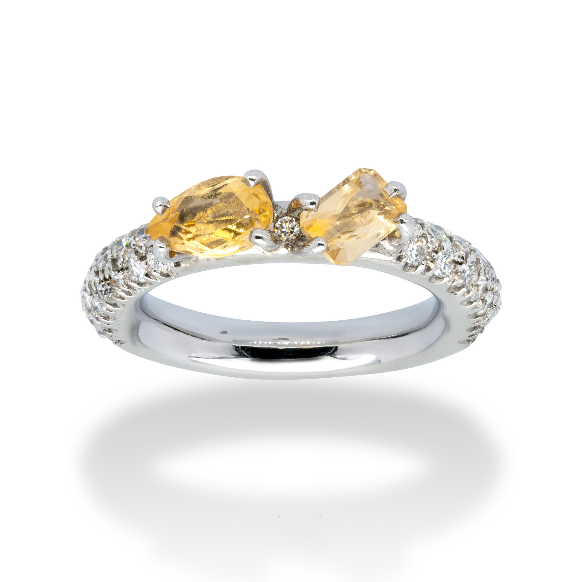 d'Avossa Ring with Imperial Topazes and Diamonds