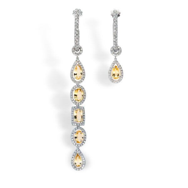 d'Avossa Earrings with Diamonds and Imperial Topazes