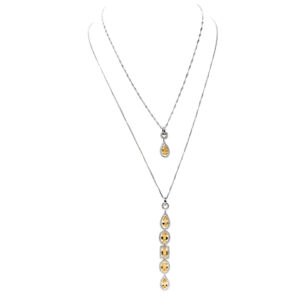 d'Avossa Necklace with Diamonds and Imperial Topazes