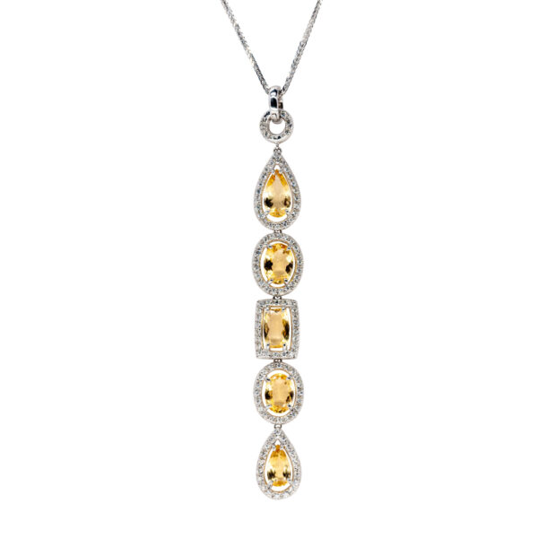 d'Avossa Pendant with Diamonds and Imperial Topazes