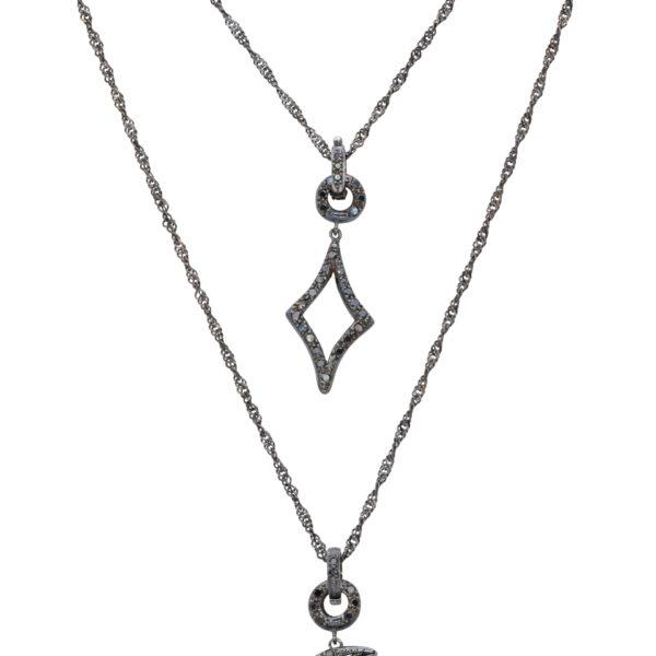 d'Avossa Necklace, 18kt black gold, with Black Diamonds