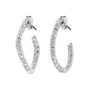 d'Avossa Earrings, 18kt white gold with white diamonds