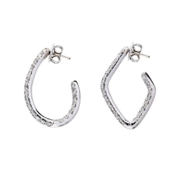 d'Avossa Earrings, 18kt white gold with white diamonds