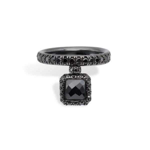 18kt Black Gold and Black Diamonds d'Avossa Ring