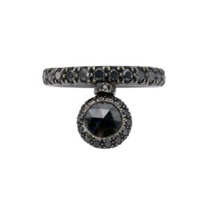 18kt Black Gold and Black Diamonds d'Avossa Ring