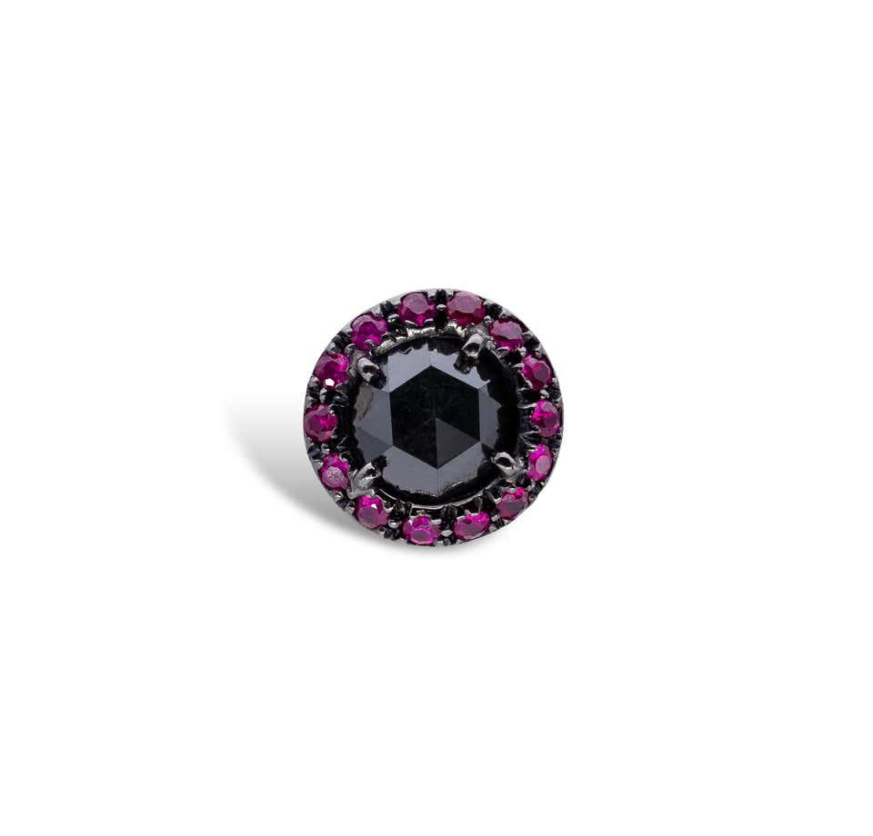 Black Diamonds and Rubies d'Avossa Earrings 2