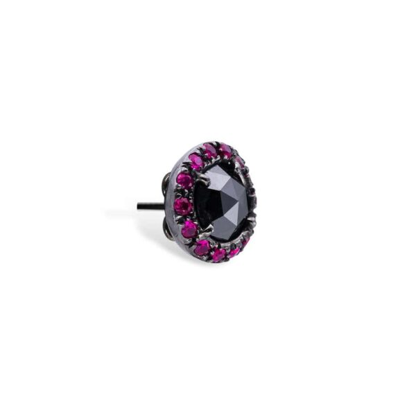 Black Diamonds and Rubies d'Avossa Earrings 5