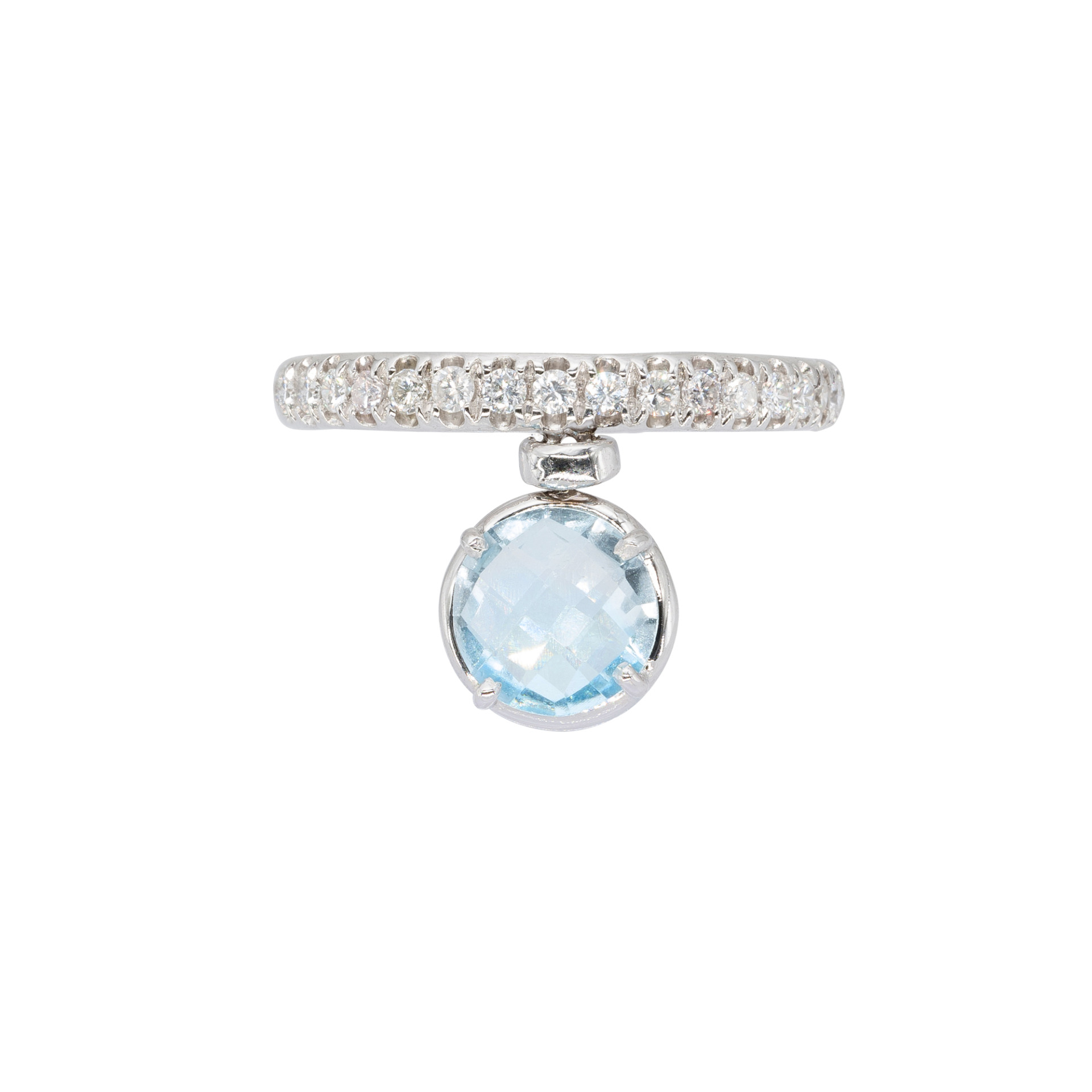 Blue Topaz and White Diamonds d'Avossa Ring(4)