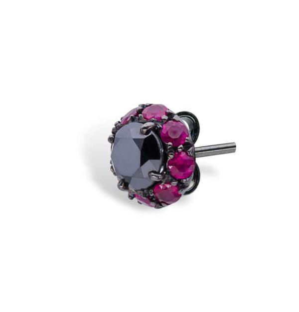 Black Diamonds and Rubies d'Avossa Earrings 3
