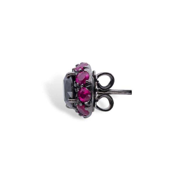 Black Diamonds and Rubies d'Avossa Earrings 4
