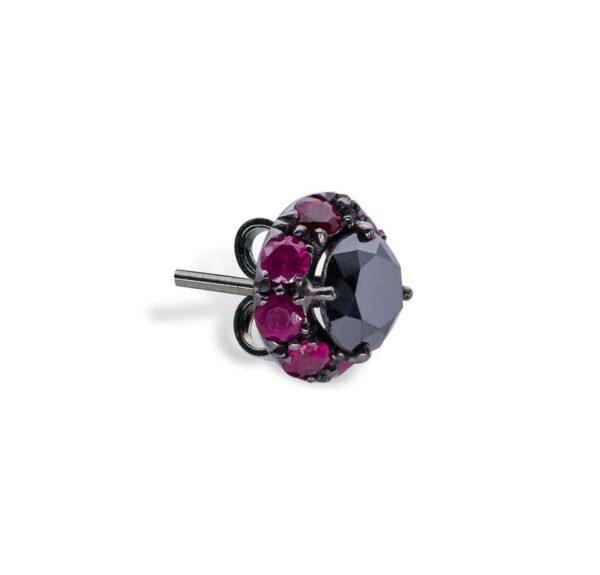 Black Diamonds and Rubies d'Avossa Earrings 5