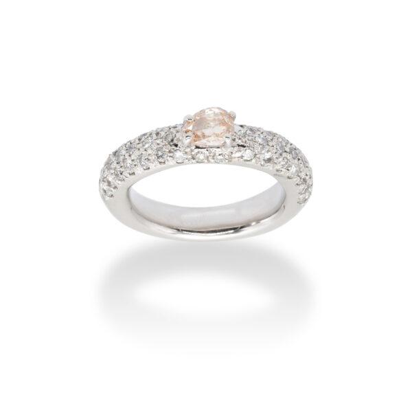 Fancy Natural Diamond d'Avossa Ring