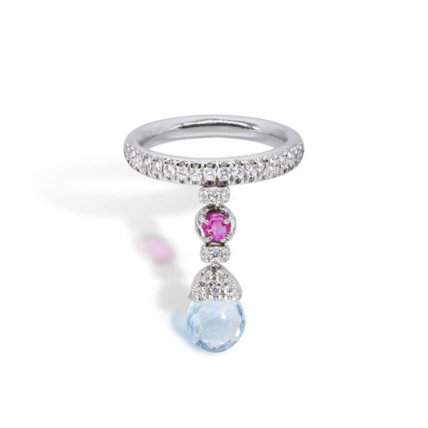 d'Avossa Ring with blue topaz, pink Sapphire, white Diamonds (1)