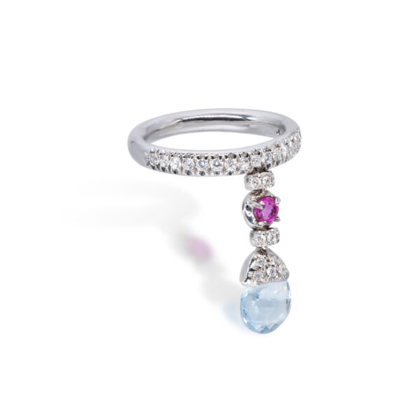 d'Avossa Ring with blue topaz, pink Sapphire, white Diamonds (3)