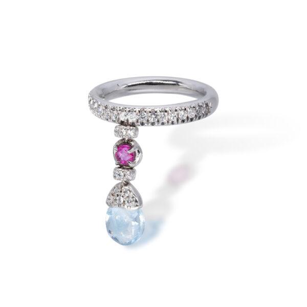 d'Avossa Ring with blue topaz, pink Sapphire, white Diamonds (4)