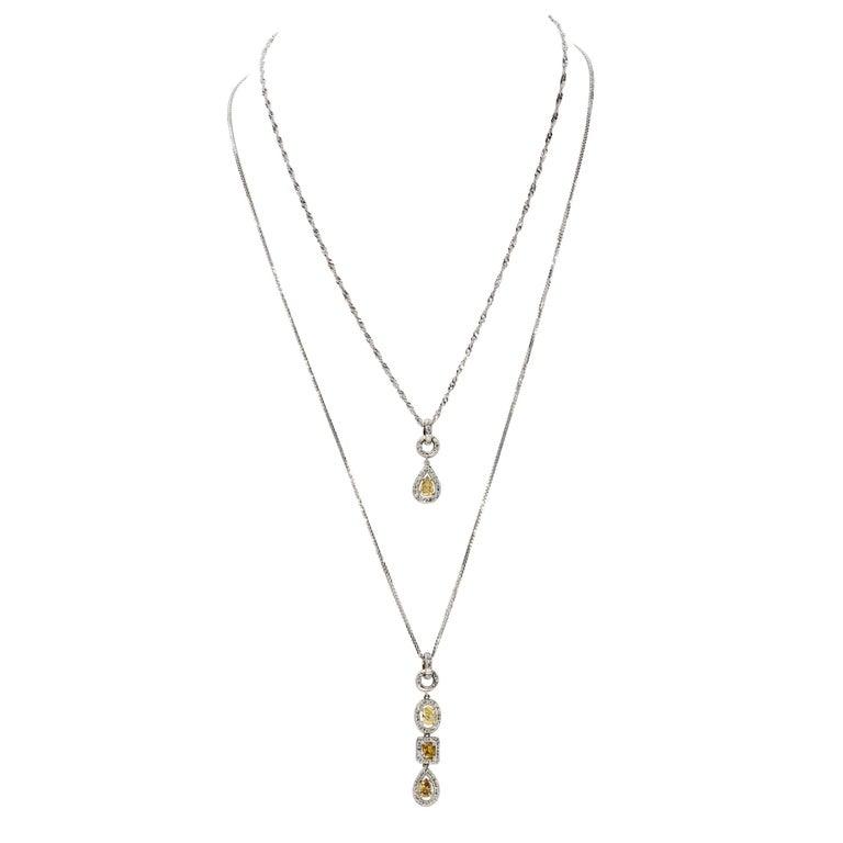d'Avossa PENDANTS IN WHITE GOLD AND DIAMONDS