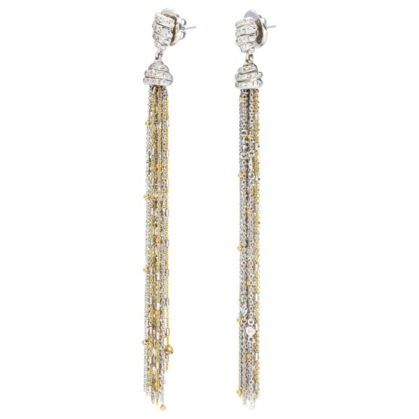 d'Avossa Earrings in 18kt white and yellow Gold with a pavè of white Diamonds