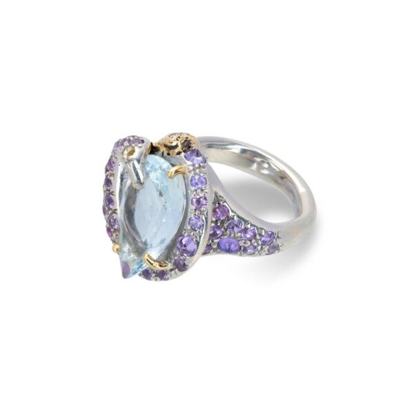 Ring from d'Avossa Rêves d'Argent Collection, in Silver, with Blue Topaz, Diamonds, Sapphires(2)